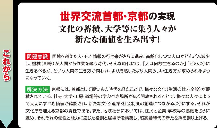 世界交流首都・京都の実現